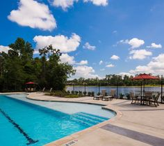 Woodtrace Recreation Center- Poolside View of Lake Woodtrace