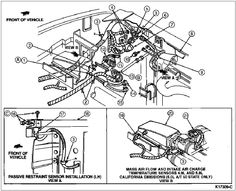 ford f150 engine diagram 1989 1994 ford f150 xlt 5 0 302cid rh pinterest com ford ranger engine diagram ford focus engine diagram