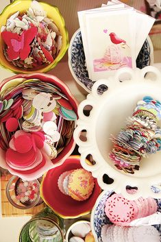 storing paper punch scraps