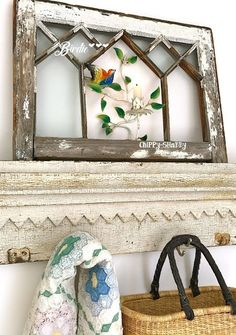 37 Ideas Vintage Furniture Design Old Windows For 2019 Shabby Chic Farmhouse, Shabby Chic Kitchen, Shabby Chic Homes, Shabby Chic Decor, Farmhouse Decor, Farmhouse Style, Vintage Furniture Design, Shabby Chic Furniture, Shabby Vintage