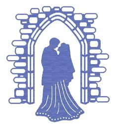 Presscut metal die cutting and embossing die bride & groom PCD14 - 2 piece set