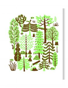Designed by Bjorn Rune Lie Size: standard size postcard Please note that the screen colors will vary from actual printed colors. Runes, Paper Goods, Pattern Design, Green, Color, Colour, Colors