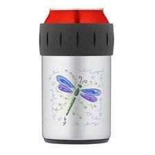 Blue Dragonfly Thermos can cooler for