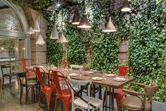 Toro - NYC Barcelona-style Tapas in an industrial, rustic setting. #greenivywall #maindining