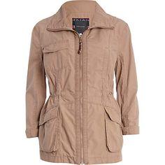 light pink light weight parka - parkas - coats / jackets - women - River Island