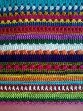 There is nothing about this I don't love. The pattern, colors, texture, stitches...... <3
