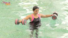 In this latest water aerobics tutorial with shape up with pooja, learn how to say goodbye to your love handles. Bonus - get toned arms too! This pool workout...