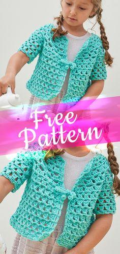Tea Party Cardigan [CROCHET FREE PATTERN] - Crafts Ideas Design