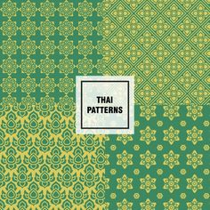 Abstract thai patterns design Free Vector