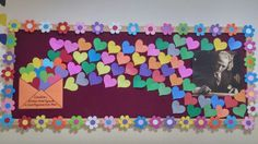 Visual result of middle school classroom board samples - Valentinstag ideen Classroom Board, Middle School Classroom, School Bulletin Boards, Classroom Displays, Classroom Decor, February Bulletin Board Ideas, Kindergarten Bulletin Boards, School Decorations, Valentine Decorations