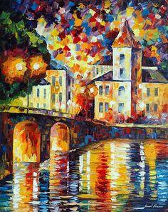 SPANISH TOWN - PALETTE KNIFE Oil Painting On Canvas By Leonid Afremov https://afremov.com/SPANISH-TOWN-PALETTE-KNIFE-Oil-Painting-On-Canvas-By-Leonid-Afremov-Size-24x30.html