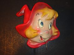 RARE VINTAGE WENDY THE LITTLE WITCH CHALKWARE STRING HOLDER HARVEY COMICS!!!