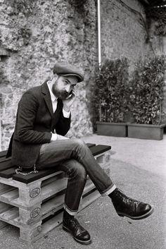 Matteo Gioli of Super Duper Hats at Pitti Uomo, Florence 2015  photo - David Pattinson