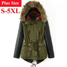 US $33.93 - Winter Jacket Women Parka Abrigos Mujer 2015 Chaqueta Mujer de Invierno Plus Size Fur Hooded PU Leather Sleeve Winter Coat Women -    http://fashioncitrus.com/products/winter-jacket-women-parka-abrigos-mujer-2015-chaqueta-mujer-de-invierno-plus-size-fur-hooded-pu-leather-sleeve-winter-coat-women/