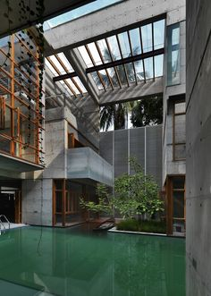 S.A. Residence, Dhaka, Bangladesh by Shatotto Architects.