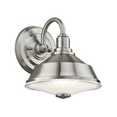 Kichler Lighting Modern Outdoor Wall Light with Clear Glass in Stainless Steel Finish | 49221SS | Destination Lighting