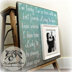 Personalized Wedding Gift 16x16 IM LUCKY Im by thesugaredplums