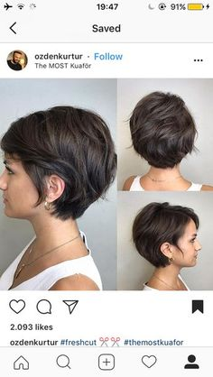 Growing out stage - Kurzhaarfrisuren Short Hairstyles For Thick Hair, Face Shape Hairstyles, Short Hair Cuts For Women, Weave Hairstyles, Oval Face Shapes, Oval Faces, Growing Out Short Hair Styles, Curly Hair Styles, Stylish Haircuts