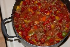 This yummy chili was one of my go-to recipes while losing 250+ pounds -- and it still is! Yum!