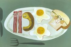 And now I'm hungry...    Lumberjack Breakfast  Limited edition 11x14 print by by matteart, $45.00