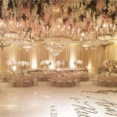 Over-the-top wedding reception decor by the amazing White Lilac Inc. We absolutely love the blush tones and the floral ceiling! Perfect for a luxury event!   Shaadi Glam @shaadiglam Instagram photos