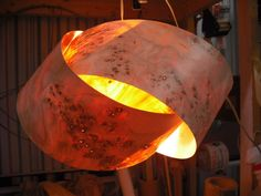 Granny Knot wood veneer pendant lamp- Mappa Burl.