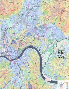 Cincinnati Bike Map by Nate Wessell