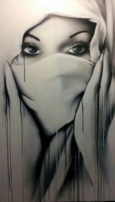 Black and White spray paint laws Montana Aerosol graffiti art soupe the paint yard awfset Graffiti Art, Hijab Drawing, Dark Drawings, Zeina, Arte Pop, Woman Drawing, True Beauty, Black Art, Drawing Sketches