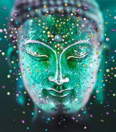 The Jade Buddha - Bringing You Good Luck Through A New State Of Mind by world renowned Energy Artist Julia. Buddha Kunst, Buddha Zen, Gautama Buddha, Buddha Buddhism, Buddhist Art, Frases Yoga, Spiritual Pictures, Buddha Painting, Mystique