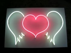 NEON 'HEART WITH WINGS' SIGN                                                                                  ๑