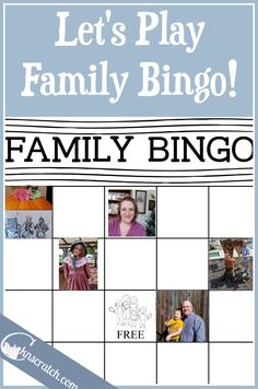 Fun! Family Bingo template for fun reunions or learning about family history