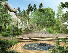 Garden Bridge, Railroad Tracks, New Work, Landscape Design, Behance, Outdoor Structures, Graphic Design, Park, Architecture