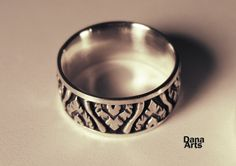 Patterned wedding band bud or flower by DanaArts on Etsy