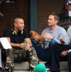 Paul and Ludacris on set in LA Dec 2012 Fast And Furious Cast, The Furious, Best Picture Winners, Dominic Toretto, Rip Paul Walker, Ludacris, Dream Boy, Perfect Boy, Tv Shows