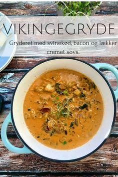 Viking stew - recipe for delicious and cheap stew that the whole family will like. Pork Recipes, Cooking Recipes, Healthy Recipes, I Love Food, Good Food, Viking Food, Dinner Is Served, Everyday Food, Food Inspiration