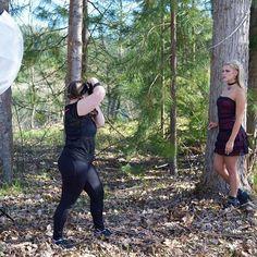 Power posing.  #behindthescenes #photoshoot #twistedpixies