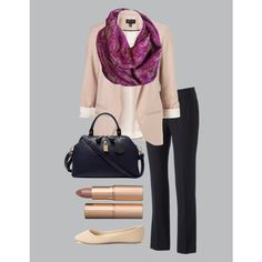 """""""Magenta Lace Dressy"""" by xoashbashxo on Polyvore Love this scarf for a work outfit! Buy at etsy.com/mariekaydesigns7 Infinity Scarf Outfits, Magenta, Fashion Inspiration, Lace, Polyvore, Collection, Shopping, Etsy, Design"""