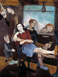 Neş'e Erdok, Zaman Kuşu, 200x150 cm, 1990, Tuval üzerine yağlıboya / Oil on canvas Subway Art, People Of The World, Photo Art, Sculptures, Arms, Illustration, Inspiration, Image, Women