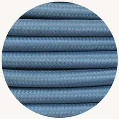 Misty Blue Fabric Cable