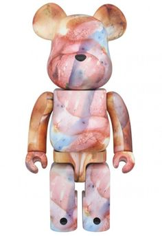 F/S Medicom Toy BE@RBRICK 400% PUSHEAD Water Print Bearbrick Figure from Japan #MEDICOMTOY