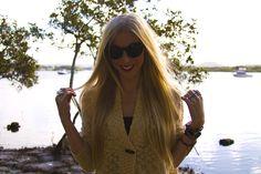 Katelyn cardigan, Georgia sunglasses, Betty Basics black tank & rings available now www.unwrittenclothing.com.au
