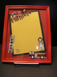 fireman scrapbook album | Scrapbooking, Stamping, Cropping!! Souper Bowl Sunday is Almost Here!