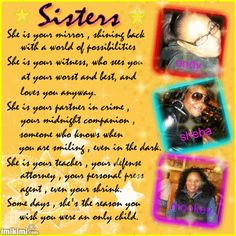 my sister, my twin and my best friend. (Victoria) <3