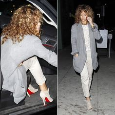 Rihanna in Christian Louboutin Maotic ankle boot