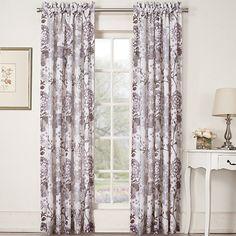 414611 Marisol Floral Lined Print Sheer Rod Pocket Panel