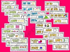 3rd Grade Common Core Vocabulary Cards