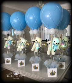 Baby Shower Balloons Baby Shower Games Baby Shower Parties Baby Boy Shower Ballon Party Baby Shower Centerpieces Baby Shower Decorations Baby Shower Ideas For Boys Themes Teddy Bear Baby Shower Idee Baby Shower, Baby Boy Shower, Baby Shower Gifts, Baby Gifts, Girl Gifts, Baby Shower Decorations For Boys, Baby Shower Centerpieces, Baby Shower Themes, Bany Shower Decorations
