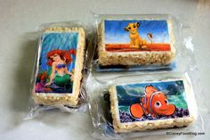 Krispie Treats for each section of AoA  - We had ourselves the Nemo ones! :)