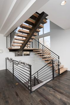 Industrial Mono-Stringer Steel Staircase