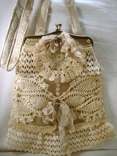 ~lace bag ~shabby chic